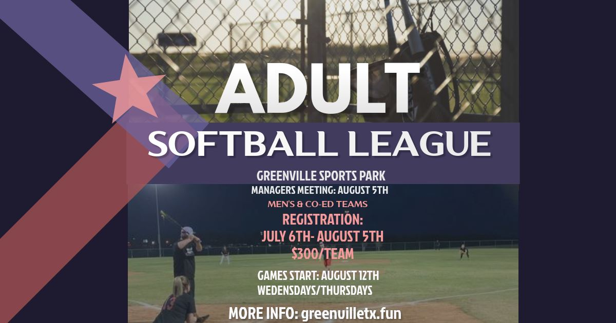 adult softball 2020 - FB Banner