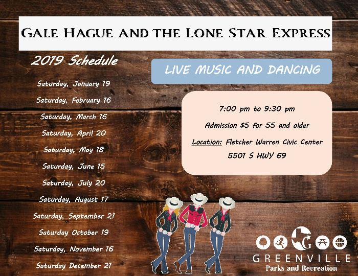 Gale Hague and the Lone Star Express 2019 schedule