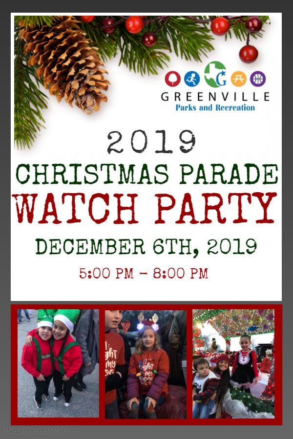 Christmas Parade Watch Party Flyer