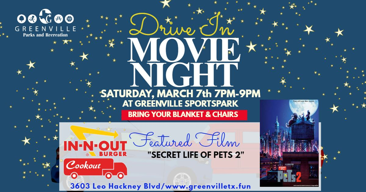 Drive in movie Facebook Event Banner