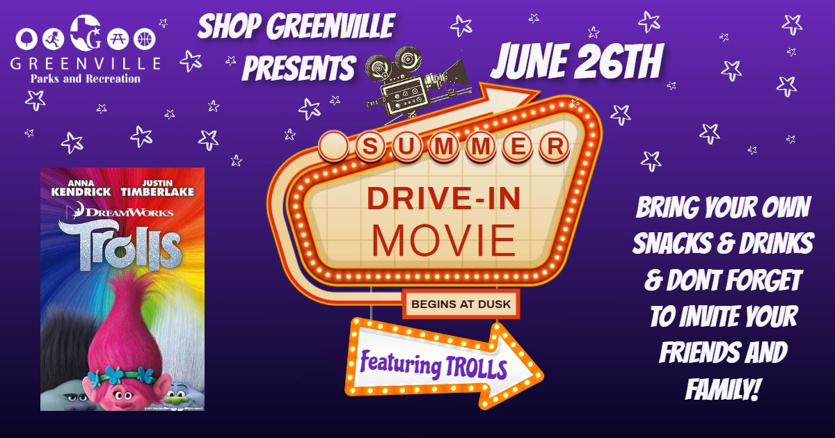 Trolls Drive in movie FB Banner